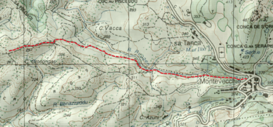 uno dei 4 sentieri del Cervo in Sardegna